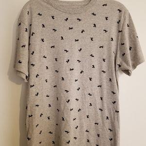 Mickey Mouse Pattern t-shirt gray Medium